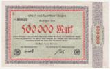 BANCNOTA (NOTGELD) - GERMANIA - AACHEN - 500.000 MARK 1923, SERIA B - MAI RARA