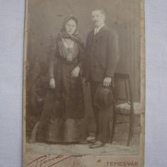 Fotografie veche Atelierul fotografic Belvaros Temesvar (Timisoara)