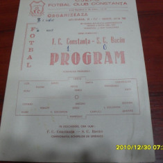 Program FC Constanta - SC Bacau - Program meci