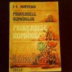 I. C. Hintescu Proverbele romanilor - Carte folclor