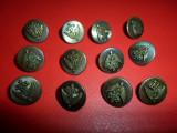 Lot 16 nasturi metalici pt camasa insemne heraldice