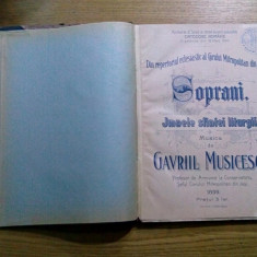 SOPRANI * IMNELE SFINTEI LITURGII - Gavril Musicescu - Iasi, 1899, 69 p. - Carti bisericesti