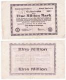 (1) BANCNOTA GERMANIA - ESCHWEILER SI STOLBERG - 1 MILLION MARK 1923 - MAI RARA