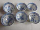 Set sake Japan portelan coaja de ou, pictat manual