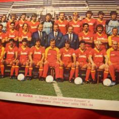 Fotografie a Echipei Fotbal AS Roma 1984, 19, 5x15 cm
