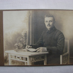Fotografie veche atelierul fotografic din Wurzburg Germania anii 1900