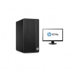 Sistem desktop HP 290 G1 MT Intel Celeron 3900 8GB DDR4 1TB HDD Black cu Monitor HP V214 20.7 inch - Sisteme desktop cu monitor