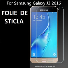 FOLIE de STICLA SAMSUNG Galaxy J3 2016 tempered glass securizata - Folie de protectie, Anti zgariere