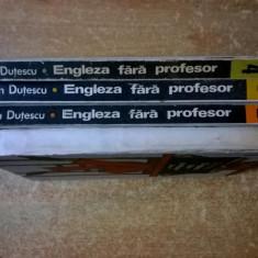 Dan Dutescu - Engleza fara profesor {4 volume}{u} - Carte in engleza