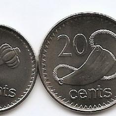 Fiji Set 4 - 5, 10, 20, 50 Cents 2009/10 - UNC !!!, Australia si Oceania