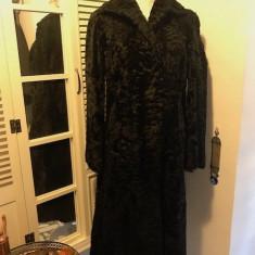 Haina superba de dama astrahan SWAKARA, mas. 42 - Palton dama, Culoare: Negru