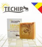 Sapun natural dobrogean nutritiv cu namol si lapte de capra Techir 120 gr
