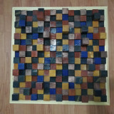 "Tablou Decorativ ""Wood Blocks"" - Hand Made"