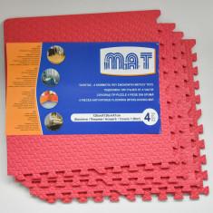 Covor puzzle mare - 1, 6 mp pentru copii sau camere cu podea rece - Rosu -NOU