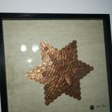 """Tablou Decorativ """" Money Star"""" Hand Made"""