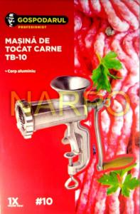 Masina de tocat carne nr 10 aluminiu manuala TB-10