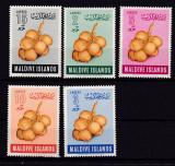 Maldive 1961  fructe  MI 69-73   MNH   w47, Nestampilat