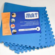 Covor puzzle mare - 1,6 mp pentru copii sau camere cu podea rece - Albastru -NOU