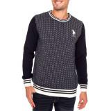 Bluza US POLO ASSN - Pulover, Bluze Barbati - 100% AUTENTIC, M, Bumbac, Bleumarin, US Polo Assn