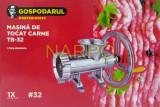 Masina de tocat carne nr 32 din ALUMINIU cu fulie si rulment mare