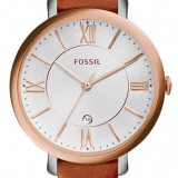 Fossil ES3842 Jacqueline ceas dama nou 100% original. Garantie. Livrare rapida., Elegant, Quartz, Inox, Piele, Rezistent la apa