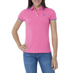 Tricou Polo US POLO ASSN - Tricouri Dama, Femei - 100% AUTENTIC - Tricou dama US Polo Assn, Marime: XS, Culoare: Roz, Bumbac