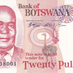 Bancnota Botswana 20 Pula (1999) - P21 UNC - bancnota africa