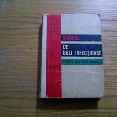 MANUAL DE BOLI INFECTIOASE * pentru Asistente Medicale - E. Groza - 1971, 605p. - Carte Boli infectioase