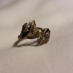 Inel argint FRANTA 1900 art nouveau cu motive vegetale DELICAT finut de EFECT