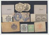 Lot timbre fiscale straine majoritatea de secol XIX, fixe sau mobile, Stampilat