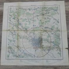 Harta Bucurescii/ Bucuresti// 1911, scara 1:100000