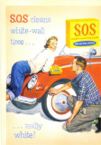 CP Z04- REPRINT -S.O.S. CLEANS WHITE-WALL TIRES... -SPALATORIE AUTO -necirculata