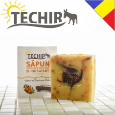 Sapun natural exfoliant si hidratant pt corp cu namol si portocale Techir 120 gr