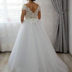 Vâd rochie mireasă ADROM Collection, Marime: 36, Culoare: Alb