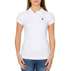 Tricou Polo US POLO ASSN - Tricouri Dama, Femei - 100% AUTENTIC - Tricou dama US Polo Assn, Marime: L, Culoare: Alb, Bumbac
