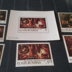 Romania 1970-LP 741,742 - Picturi-Vanatoarea,nestampilate., Nestampilat
