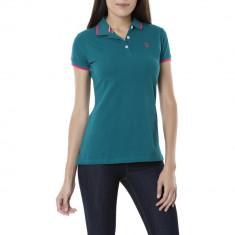 Tricou Polo US POLO ASSN - Tricouri Dama, Femei - 100% AUTENTIC, Verde, S, Bumbac, US Polo Assn