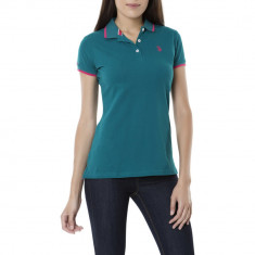 Tricou Polo US POLO ASSN - Tricouri Dama, Femei - 100% AUTENTIC - Tricou dama US Polo Assn, Marime: S, M, Culoare: Verde, Bumbac