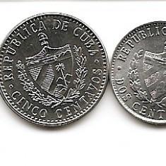 Cuba Set 4 -1, 2, 5, 20 Centavos 1985/10 - UNC !!!, America de Nord