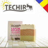 Sapun natural antiacneic cu namol si arbore de ceai Techir 120 gr
