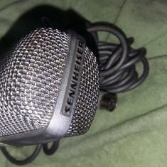 Microfon metalic Sennheiser, Microfon vintage de colectie cu cablu inclus, T.GRATU