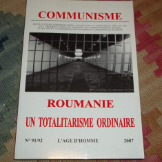 Revista Communisme - Roumanie un totalitarisme ordinaire (2007)
