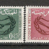 Maroc.1965 Anul international al cooperarii MM.121 - Timbre straine, Nestampilat