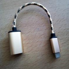 Cablu OTG mufa Type C / Cablu Adaptor OTG, USB A, 3.0 Mama - Type-C, Tata