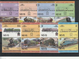 Locomotive cu abur, vechi, Nevis., Nestampilat