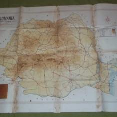 Romania harta turistica 1946 cu propaganda comunista