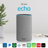 Amazon Echo 2017 | Asistent inteligent, boxa bluetooth | Sigilat | 3 Culori