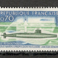"""Franta.1969 Submarinul nuclear """"Redoutable""""  SF.229, Nestampilat"""