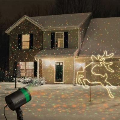 Proiector laser exterior sau interior cu telecomanda rezistent la apa Craciun foto
