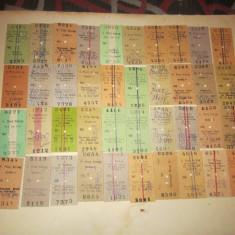 Bilete tren vechi 50 buc c18